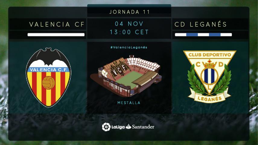 El Leganés, ante el reto de frenar a un Valencia imparable