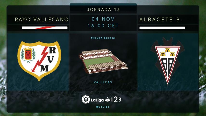 Rayo y Albacete quieren volver a sumar de tres en tres