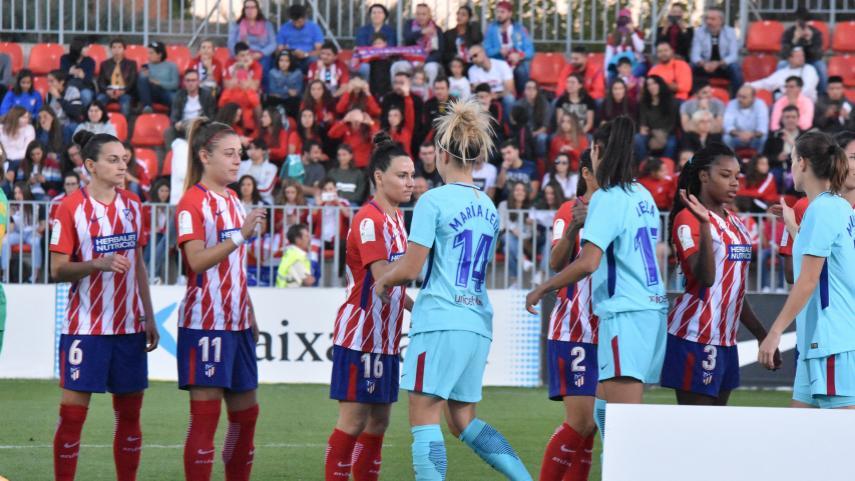 Partidazo y reparto de puntos entre At. Madrid Femenino y Barcelona
