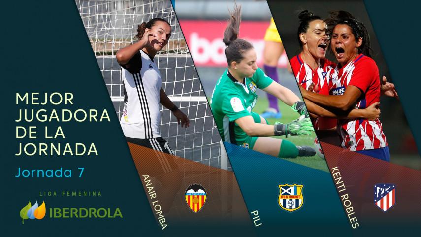 ¿Quién fue la mejor jugadora de la jornada 7 de la Liga Femenina Iberdrola?