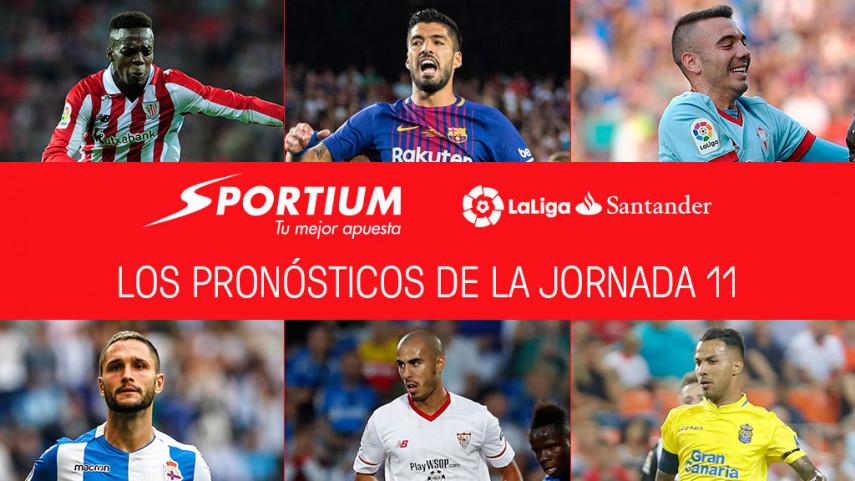 Las recomendaciones de Sportium para la jornada 11 de LaLiga Santander
