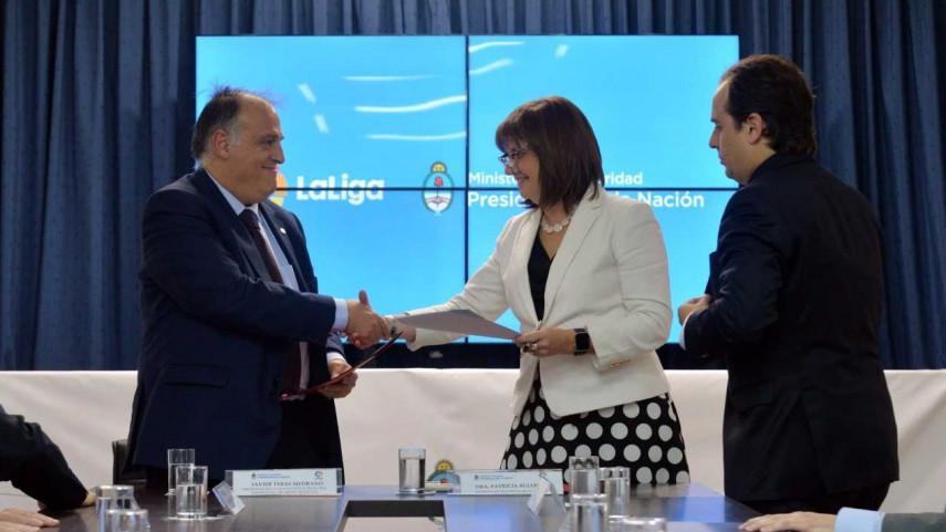 LaLiga colaborará con el fútbol argentino en la lucha contra la violencia en los estadios