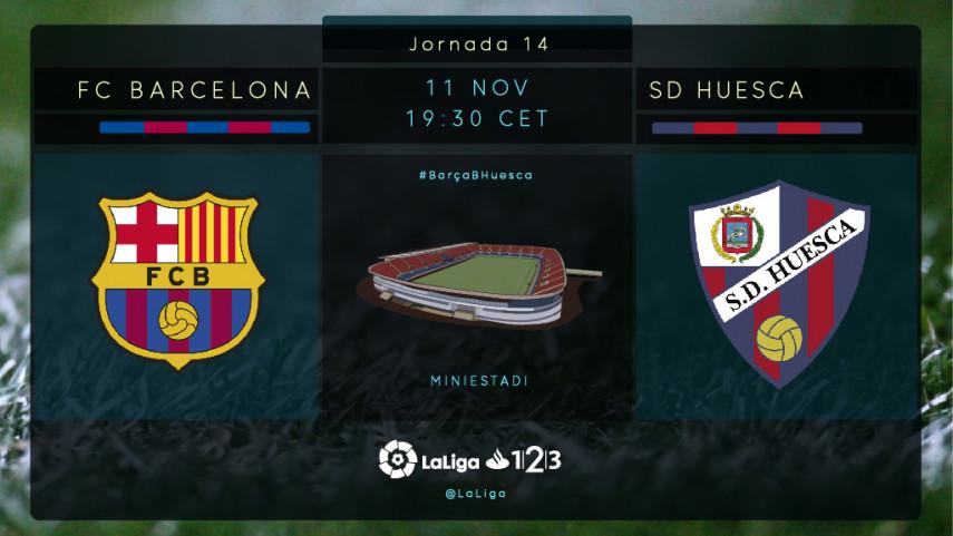 El FC Barcelona B busca su mejor versión ante el Huesca