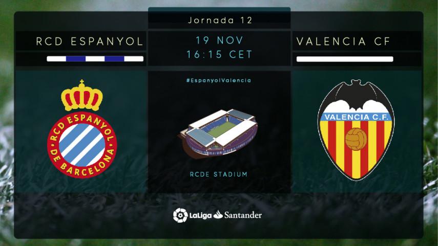 Un intratable Valencia visita al Espanyol