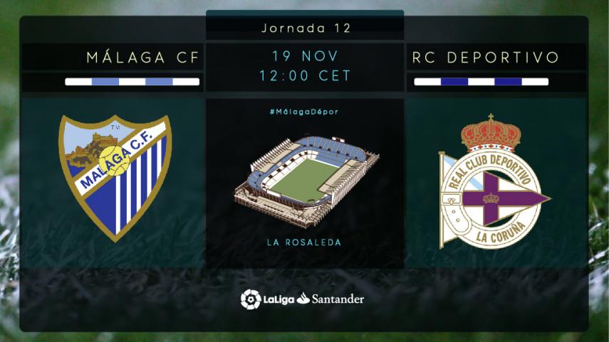La necesidad apremia a Málaga y Deportivo