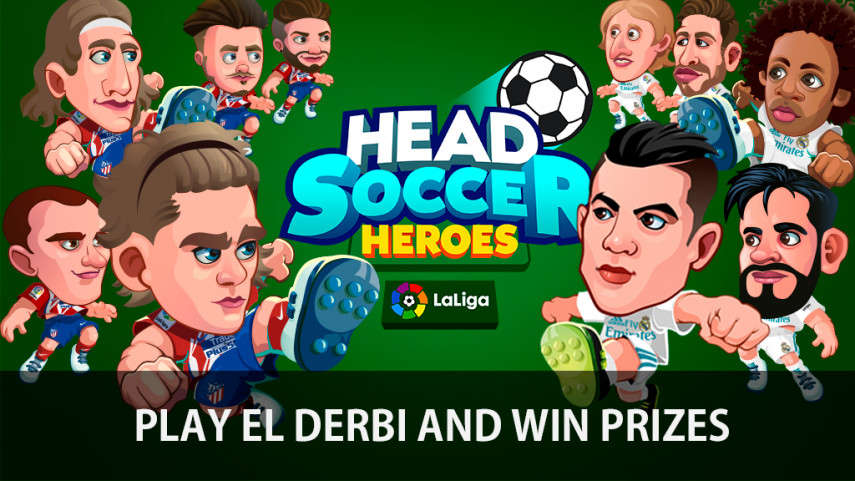 Watch the Madrid Derby live with Head Soccer Heroes