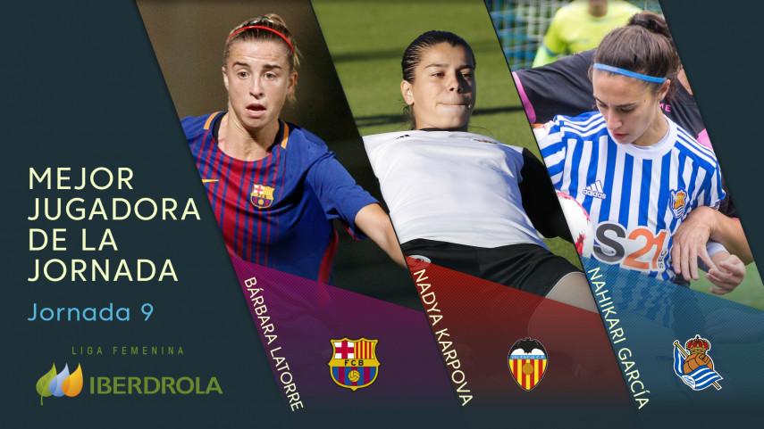 ¿Quién fue la mejor jugadora de la jornada 9 de la Liga Femenina Iberdrola?