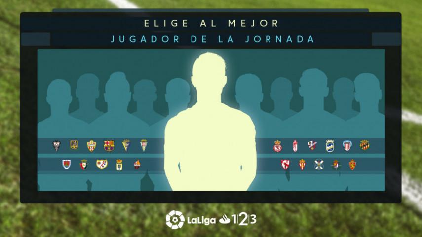 ¿Quién fue el mejor jugador de la jornada 25 de LaLiga 1l2l3?