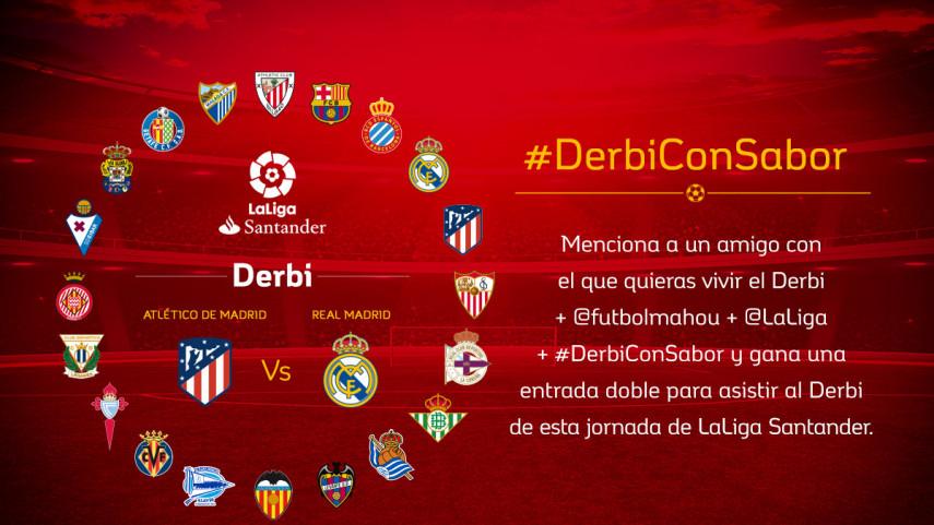 ¿Con quién quieres vivir el #DerbiConSabor entre Atlético de Madrid y Real Madrid de la jornada 12?