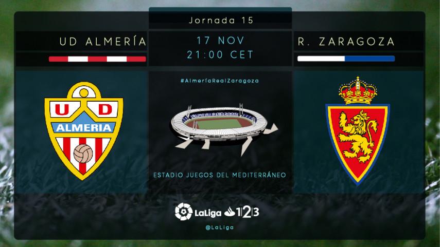 El Almería quiere dar un golpe sobre la mesa ante el Zaragoza