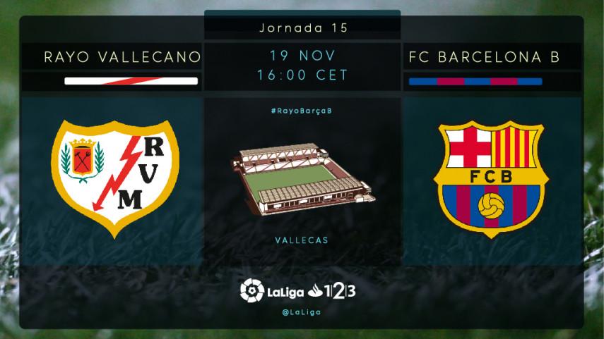 Rayo y Barcelona B quieren volver a ver una victoria