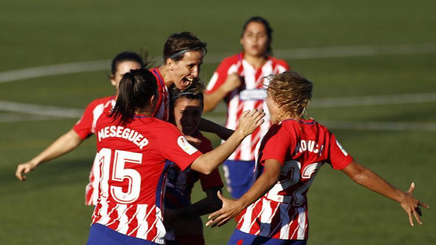 El At. Madrid Femenino gana y es líder en solitario de la Liga Iberdrola