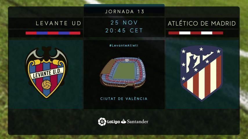 Las buenas sensaciones de Atlético y Levante se citan en Valencia