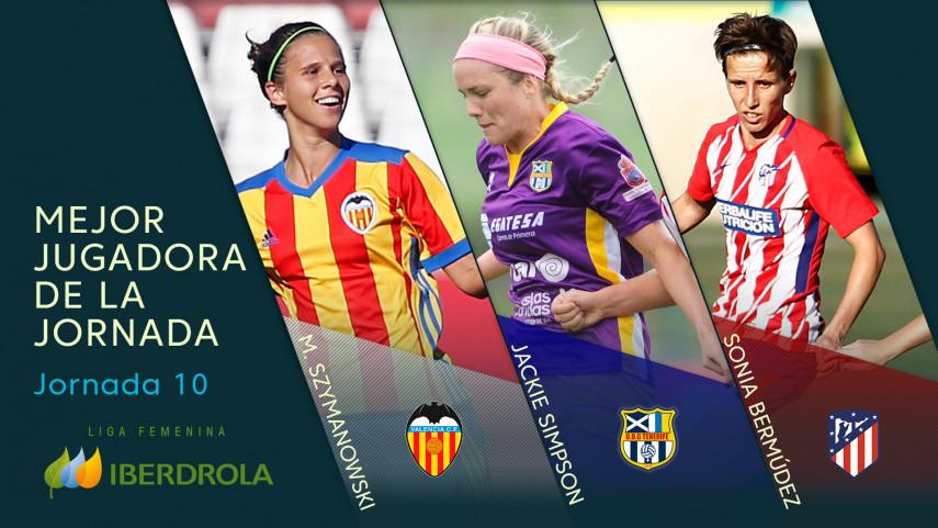 ¿Quién fue la mejor jugadora de la jornada 10 de la Liga Femenina Iberdrola?