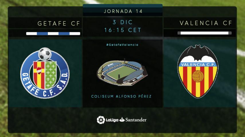 El Getafe, ante el reto de poner freno al Valencia