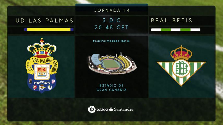 Las Palmas y Betis, en busca de una reacción en el Estadio de Gran Canaria