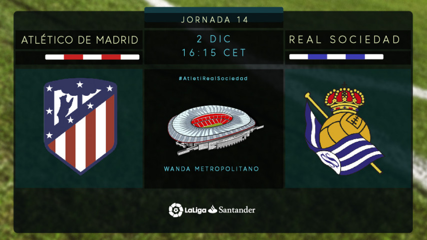 Atlético y Real Sociedad ansían encontrar su mejor versión