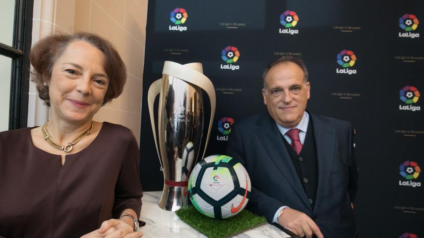 LaLiga inaugura su oficina en Bruselas