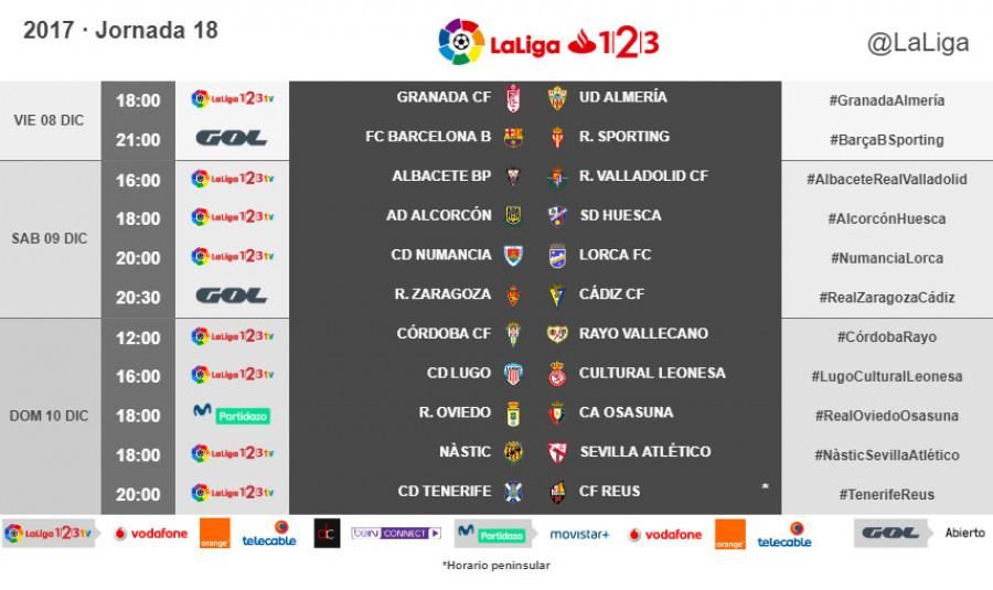 Resultado de imagen de la liga 123 jornada 18 temporada 2017-18