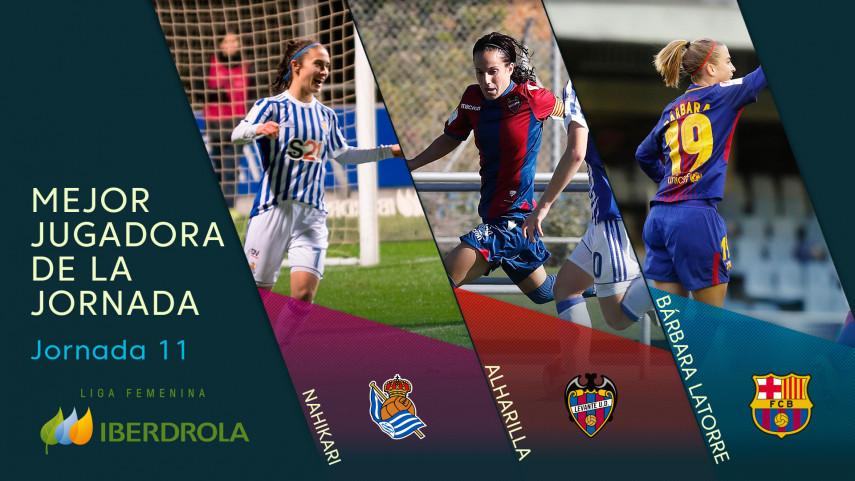 ¿Quién fue la mejor jugadora de la jornada 11 de la Liga Femenina Iberdrola?
