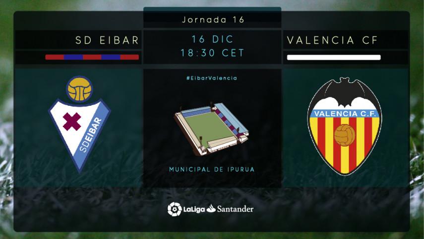 El Valencia visita a un Eibar en racha