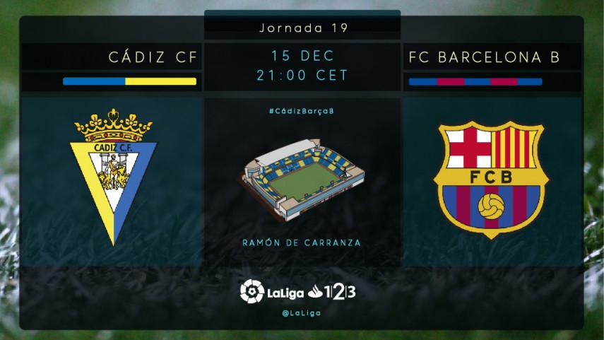El Cádiz asalta el liderato ante un Barcelona B en apuros