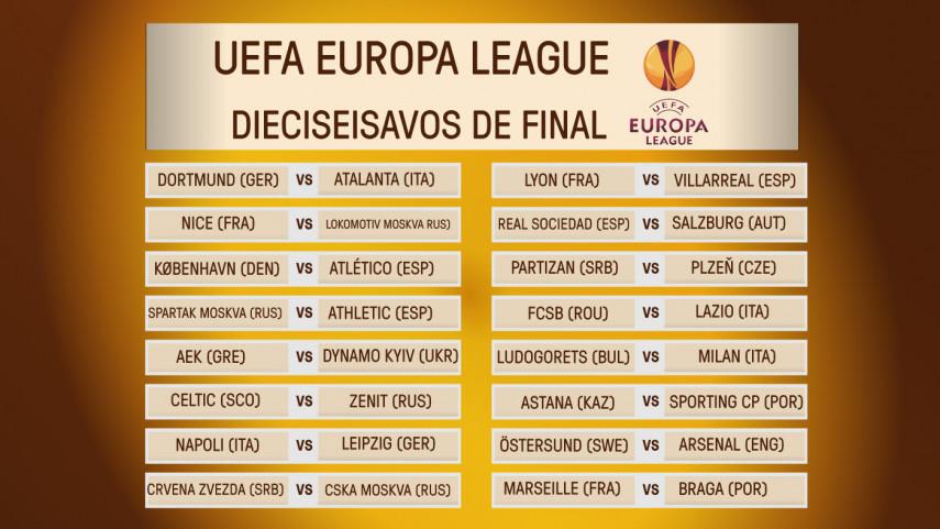 Conoce a los rivales de los equipos de LaLiga Santander en dieciseisavos de Europa League