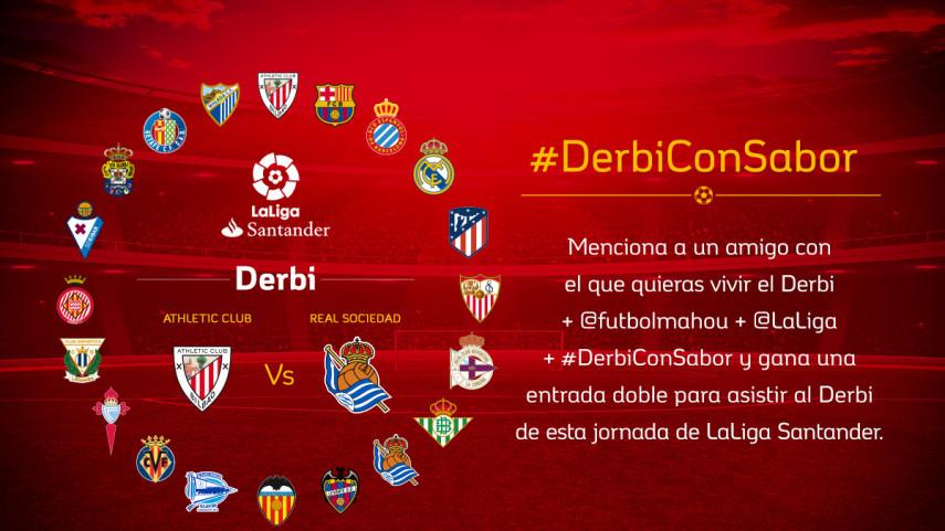¿Con quién quieres vivir el #DerbiConSabor entre Athletic Club y Sociedad de la jornada 16?