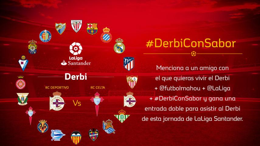 ¿Con quién quieres vivir el #DerbiConSabor entre RC Deportivo y RC Celta de la jornada 17?
