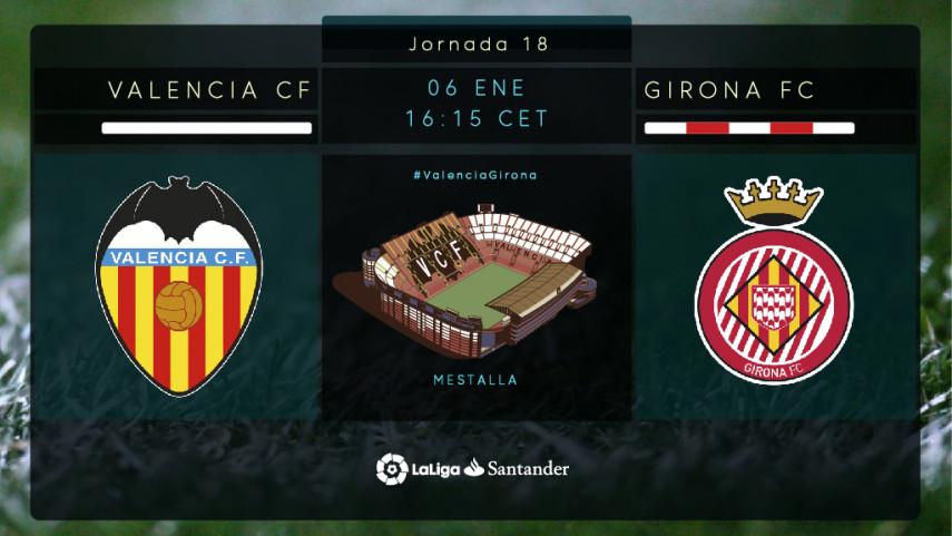 El Valencia, en busca de su mejor versión ante el Girona