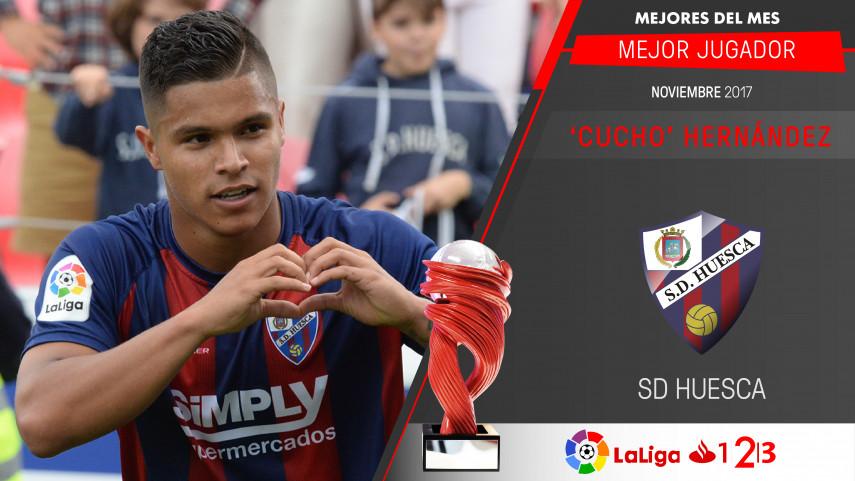 'Cucho' Hernández, Mejor Jugador de LaLiga 1l2l3 en noviembre
