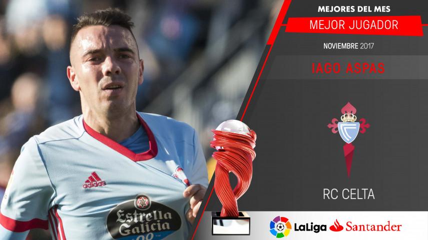 Iago Aspas, Mejor Jugador de LaLiga Santander en noviembre
