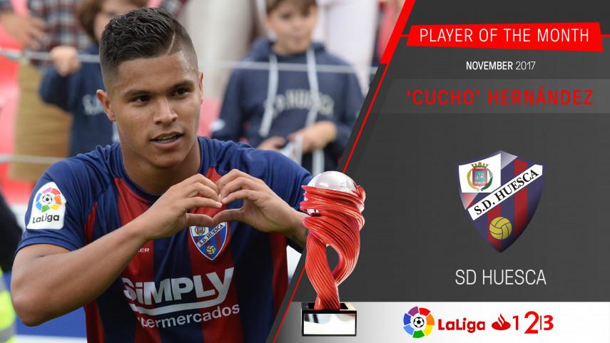 Juan Camilo Hernandez named LaLiga 1|2|3 Player of the Month for November