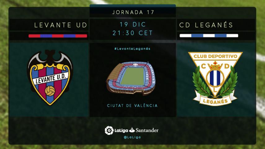Levante y Leganés protagonizan un duelo inédito en LaLiga Santander