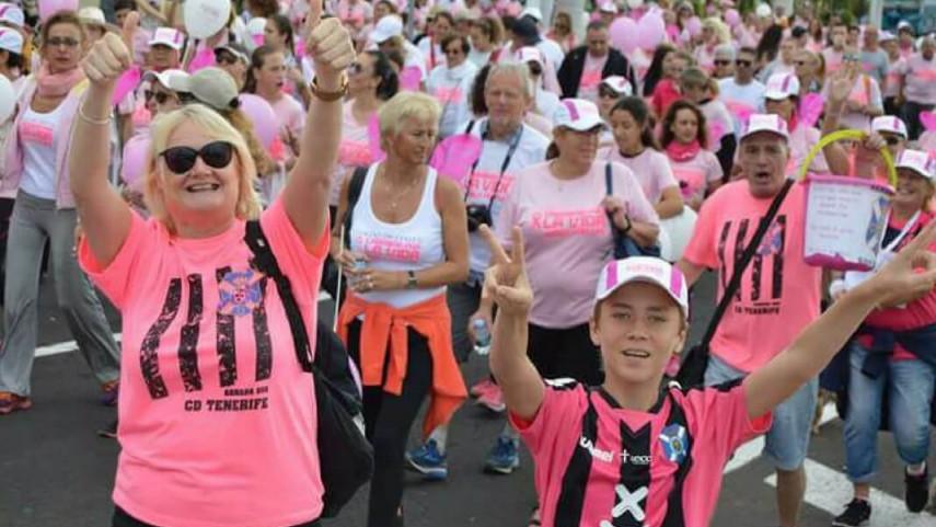 Una carrera contra el cáncer con la Federación de Peñas del CD Tenerife