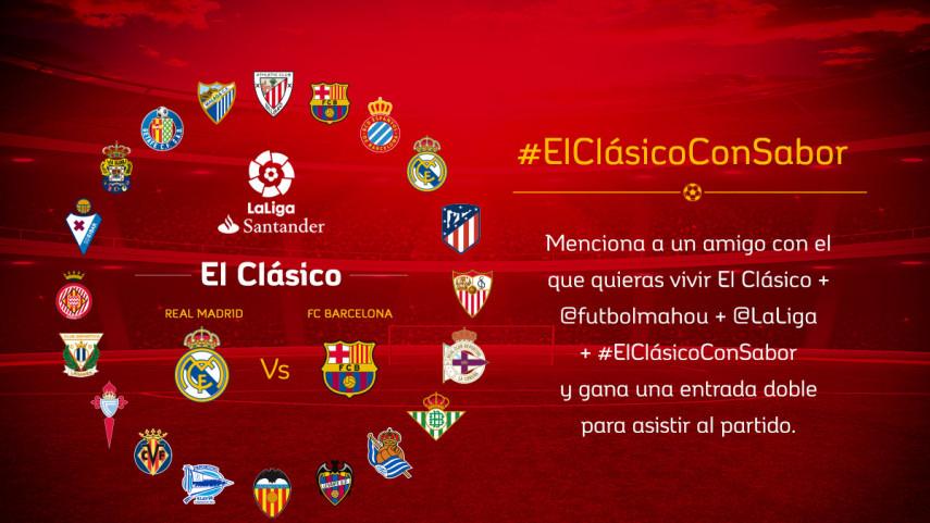 ¿Con quién quieres vivir #ElClásicoConSabor entre Real Madrid y FC Barcelona de la jornada 17?