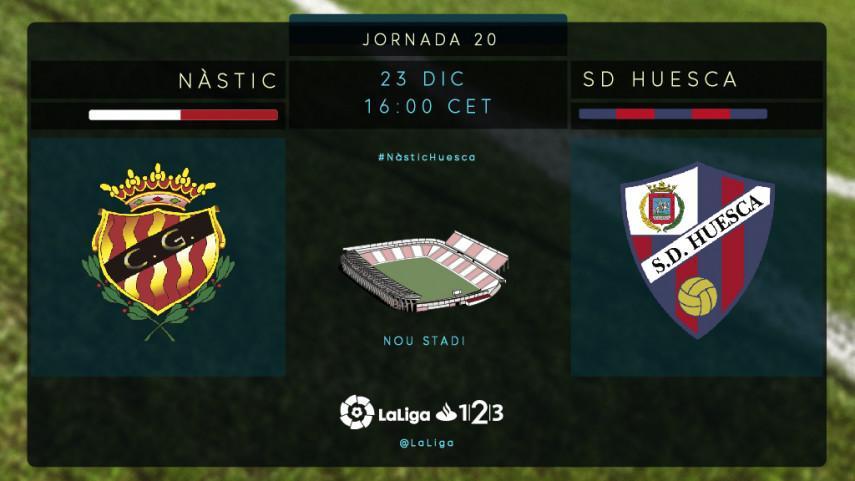 El Nàstic pone a prueba al liderato del SD Huesca
