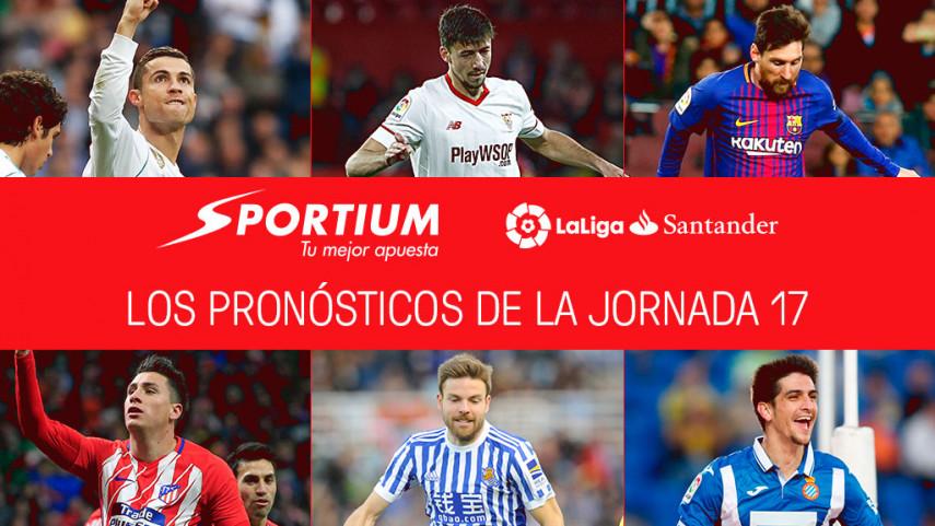 Las recomendaciones de Sportium para la jornada 17 de LaLiga Santander