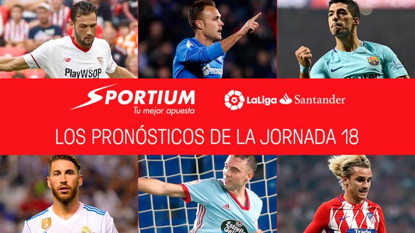 Las recomendaciones de Sportium para la jornada 18 de LaLiga Santander