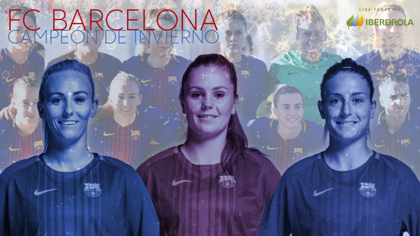 El FC Barcelona, campeón de invierno de la Liga Iberdrola