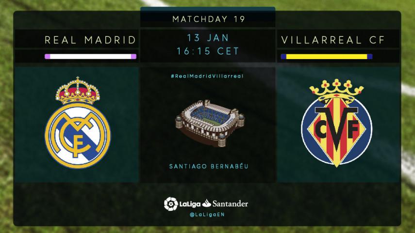Real Madrid seek a reaction against Villarreal