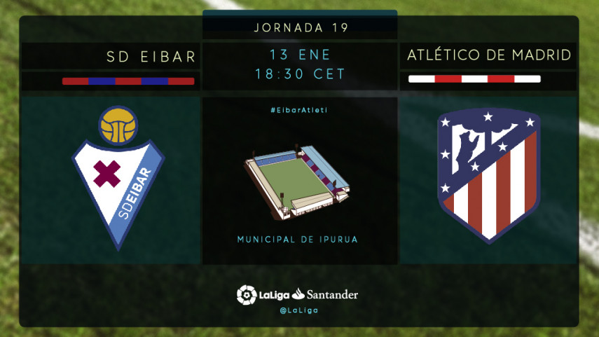 El Atlético de Madrid mide el gran estado de forma del Eibar