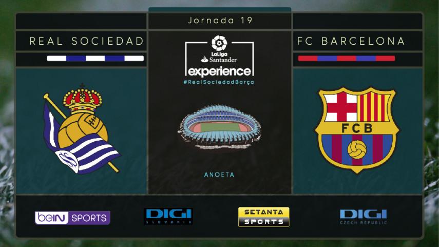 Real Sociedad y FC Barcelona, listos para entusiasmar a los aficionados de DIGI Sport, Setanta y beIN SPORTS en Anoeta