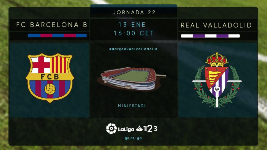 Barça B y Valladolid ansían los puntos del Miniestadi
