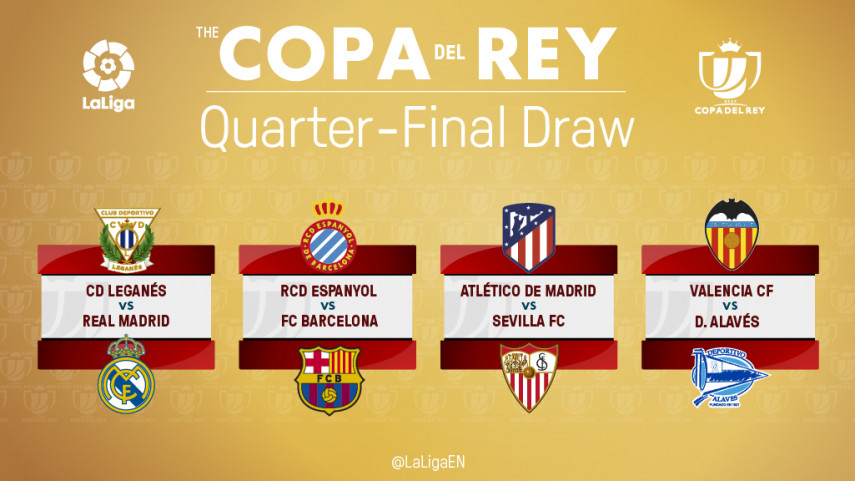 The draw for the quarter-finals of the Copa del Rey