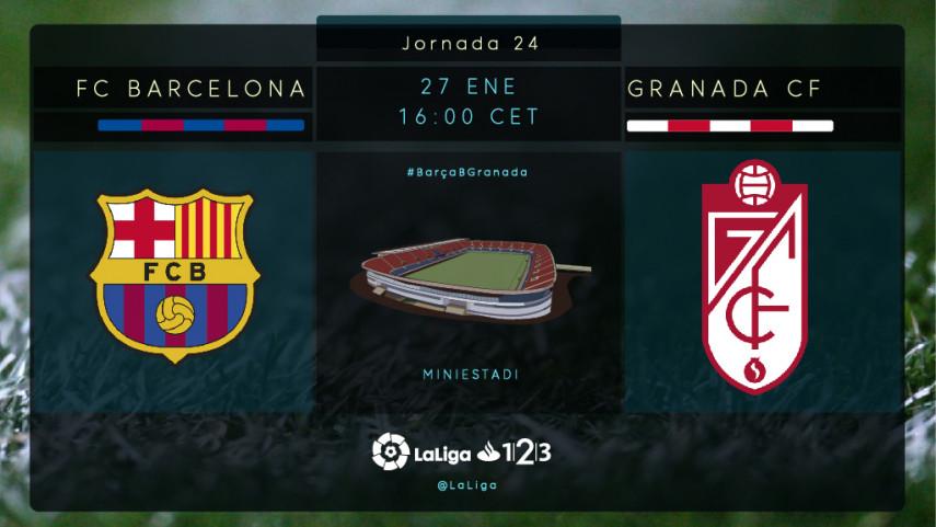 El Granada visita al Barcelona B con los play-off en mente