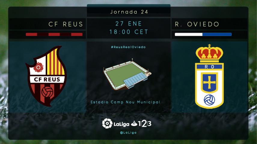 El Oviedo busca prolongar su racha en Reus
