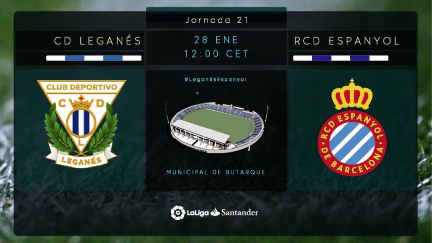 El Espanyol pone a prueba en LaLiga Santander la euforia del Leganés