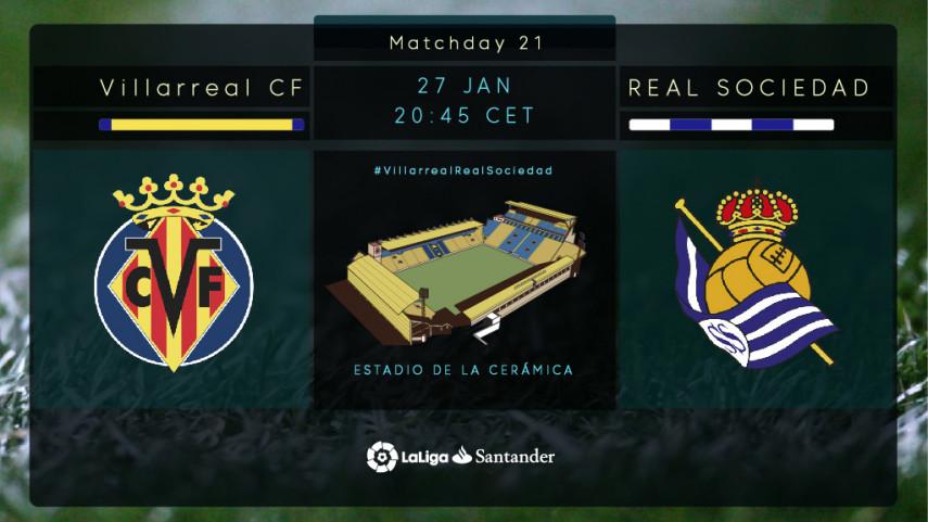 The Estadio de la Ceramica hosts two teams heading in opposite directions