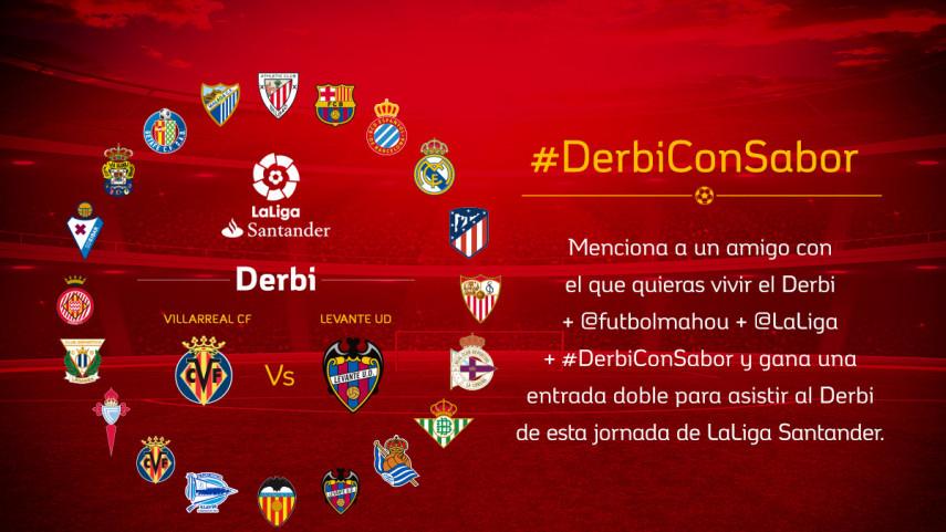 ¿Con quién quieres vivir el #DerbiConSabor entre Villarreal CF y Levante UD de la jornada 20?